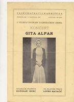 Picture of Lovro Matačić, potpis: Programska knjižica za koncert Gite Alpar