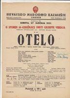Picture of Tomislav Neralić i Noni Žunec, potpisi: Otelo, redateljica Margarita Froman, programski plakat,