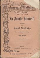 Picture of Bozidar Sirola, potpis: Die Familie Polaniecti - Henry Sienkiewicz