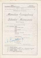 Picture of Miroslav Čangalović, potpis: Programski plakat, Hrvatski glazbeni zavod
