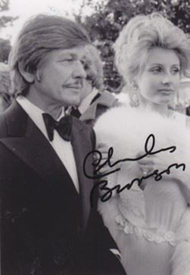 Picture of Charles Bronson, autograph /potpis: Fotografija s potpisom / signed photo