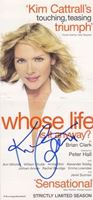 Picture of Kim Cattrall autograph /potpis: Flyer za predstavu Whose Life, Is it anyway