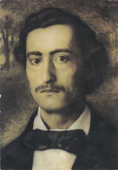 Picture of Branko Radičević, portret: Razglednica