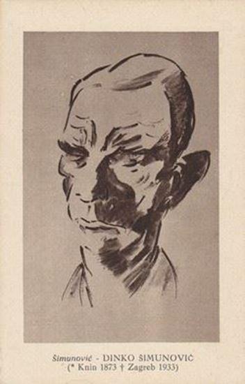 Picture of Dinko Simunovic, portret: Frano Simunovic, autor - razglednica