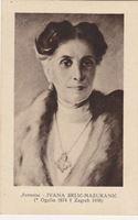 Picture of Ivana Brlić Mažuranić, portret: Otto Antonini, autor - razglednica