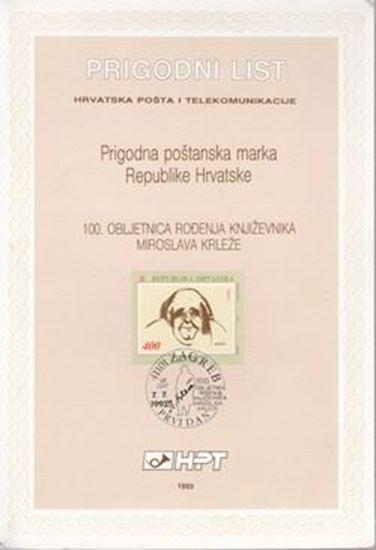 Picture of Miroslav Krleža: Prigodni list - 100. obljetnica rođenja