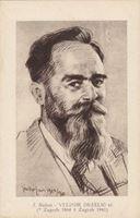 Picture of Velimir Deželić stariji, portret: Joso Bužan, autor - razglednica