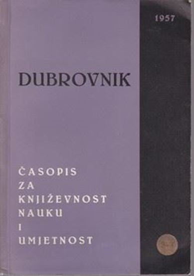 Picture of Stjepan Kastropil, urednik: Dubrovnik, casopis za knjizevnost, nauku i umjetnost
