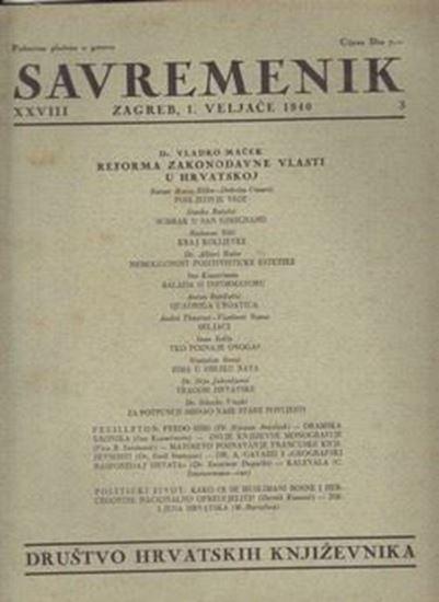 Picture of Ilija Jakovljević, urednik: Savremenik, godina XXVIII broj 3