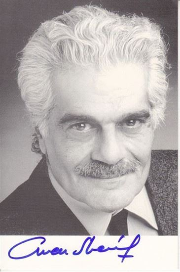 Picture of Omar Sharif autograph: Fotografija s potpisom / signed photo