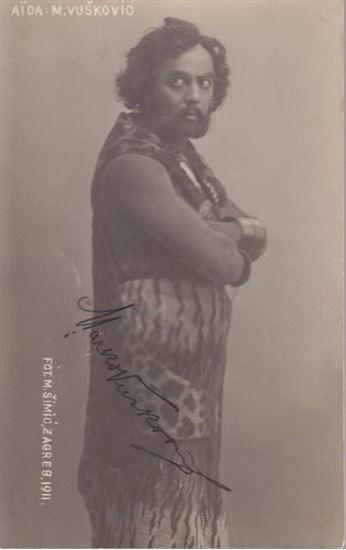 Picture of Foto razglednica Marko Vušković: Marko Vušković, potpis