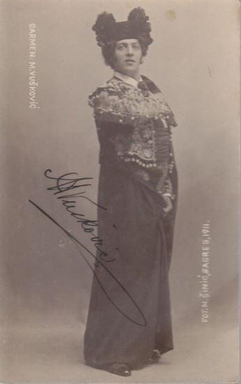 Picture of Foto razglednica Marko Vuskovic: Marko Vuskovic, potpis