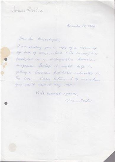 Picture of Jovan Hristić, potpis: Pismo s potpisom