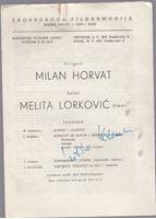 Picture of Milko Kelemen, potpis: Programska knjižica