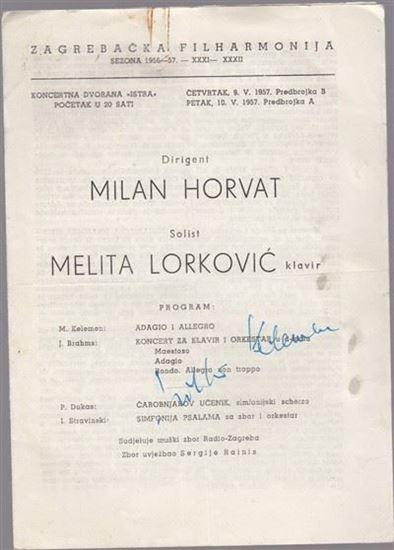 Picture of Milko Kelemen, potpis: Programska knjizica