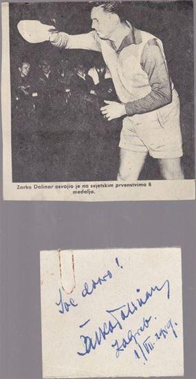 Picture of Zarko Dolinar: Potpis / autograph