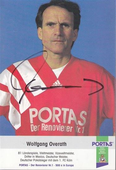 Picture of Wolfgang Overath: Potpis / autograph