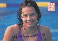 Picture of Franziska van Almsick: Potpis / autograph