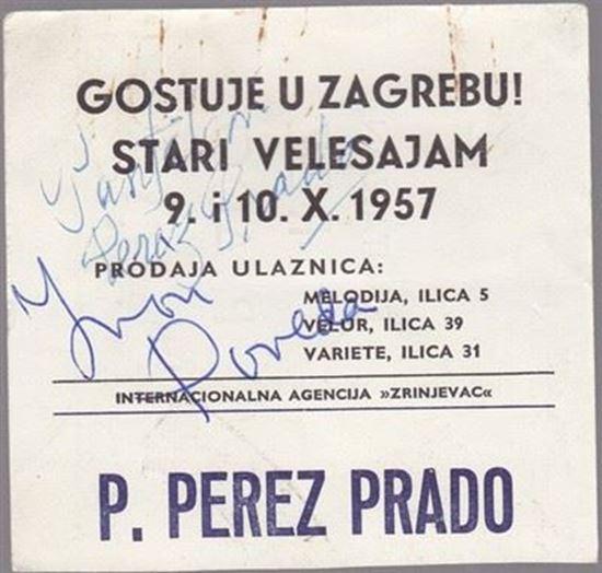 Picture of Perez Prado: Potpis / autograph