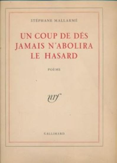 Picture of Stephan Mallarme: Un coup de dés jamais n abolira le hasard
