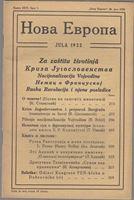 Picture of Milan Curcin, urednik: Nova Evropa, srpanj  1923