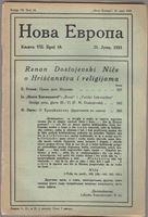 Picture of Milan Čurčin, urednik: Nova Evropa, lipanj 1923