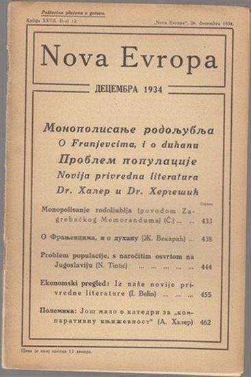 Picture of Milan Čurčin, urednik: Nova Evropa, prosinac 1934