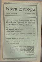 Picture of Milan Čurčin, urednik: Nova Evropa, veljača 1923
