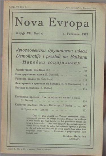 Picture of Milan Curcin, urednik: Nova Evropa, veljaca 1923