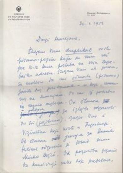 Picture of Marko Ristić: Pismo s potpisom