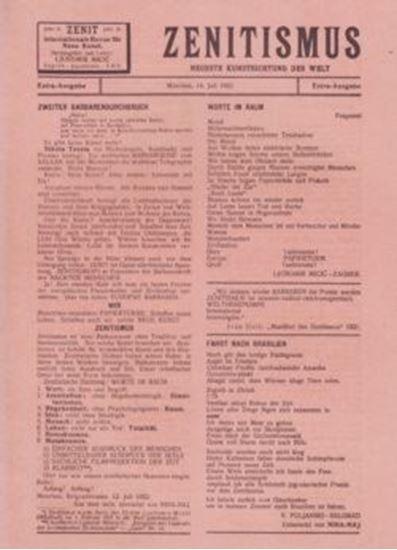 Picture of Ljubomir Micić: Zenitismus - reprint