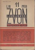 Picture of Slovenska revija: Ljubljanski zvon - No. 4-5-6-9-10-11 /1933