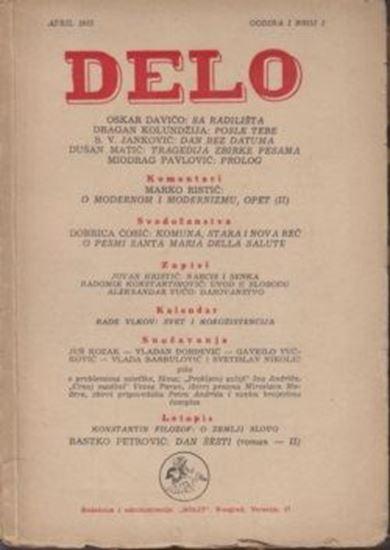 Picture of Aleksandar Vuco i Oskar Davico, urednici: Delo, IV / 1955