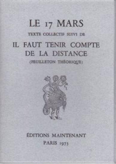 Picture of Le 17 mars texte collectif, suivi de : Il faut tenir compte de la distance