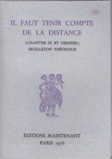 Picture of Il faut tenir compte de la distance (chapitre IX et dernier) feuilleton théorique
