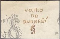 Picture of Ernest Tomašević: Nacrt Ex librisa za dr. Vojka Durbešića