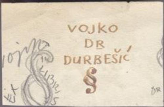 Picture of Ernest Tomasevic: Nacrt Ex librisa za dr. Vojka Durbesica