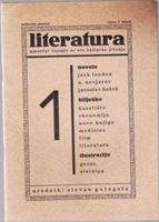 Picture of Stevan Galogaža, urednik: Literatura - broj 1. / 1931.
