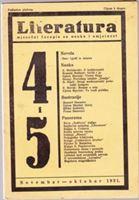 Picture of Stevan Galogaža, urednik: Literatura - broj 4. i 5. / 1931.