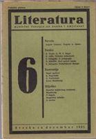 Picture of Stevan Galogaža, urednik: Literatura - broj 6. / 1931.