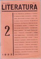Picture of Stevan Galogaza, urednik: Literatura - broj 2. / 1933.
