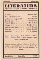 Picture of Stevan Galogaza, urednik: Literatura - broj 3. i 4. / 1933.