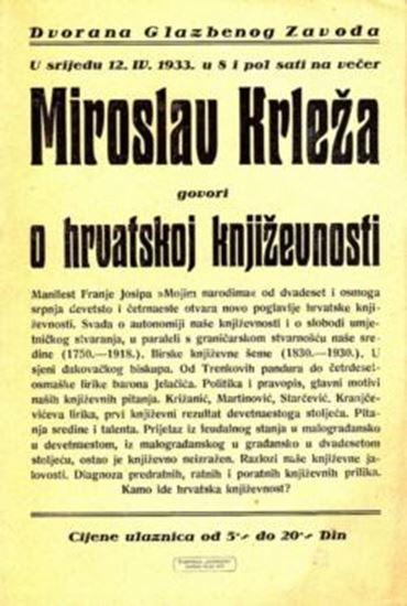 Picture of Miroslav Krleža: Glazbeni zavod, 1933.