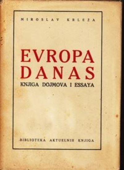 Picture of Miroslav Krleža: Evropa danas