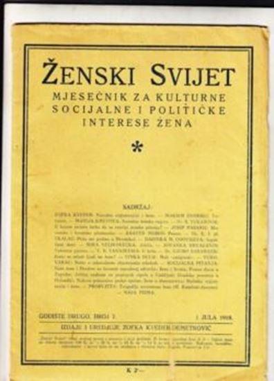Picture of Zofka Kveder: Zenski svijet 7 / 1918