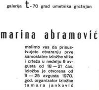 Picture of Marina Abramovic: Galerija t-70