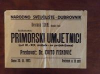 Picture of Narodno sveučičište, Dubrovnik: Primorski umjetnici, plakat