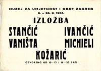 Picture of Miljenko Stančić, Ljubo Ivančić, Josip Vaništa, Michieli, Ivan Kožarić - plakat