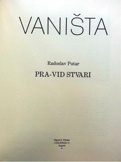 Picture of Radoslav Putar: Vanista: pra-vid stvari