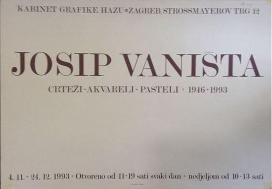 Picture of Josip Vaništa, HAZU, Zagreb 1996.